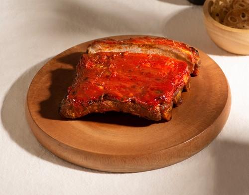 Sườn heo nướng BBQ táo đỏ