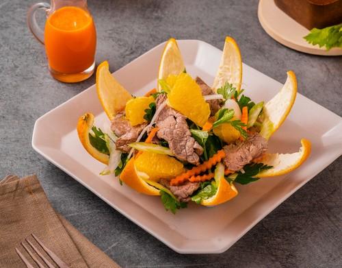 Gỏi bò trái cam