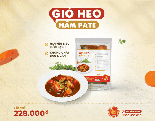 Giò heo  hầm pate (Ready to cook)