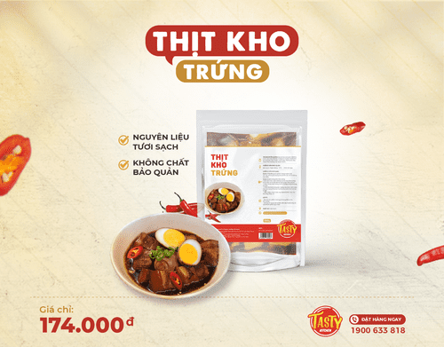 Thịt kho trứng (Ready to cook)